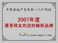 2007年度最受网友欢迎的橱柜品牌