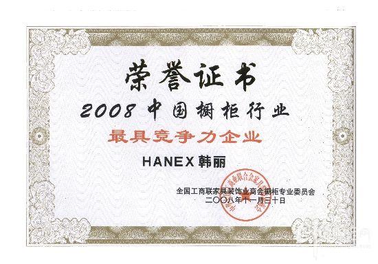 2008中国橱柜行业最具竞争力企业