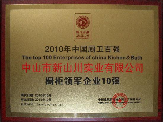 2010厨卫百强领军十强