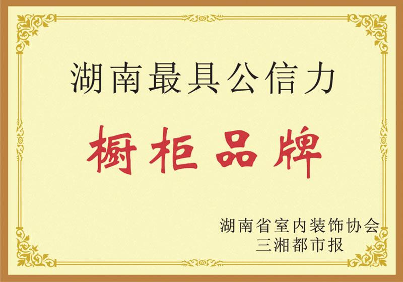 湖南最具公信力橱柜品牌