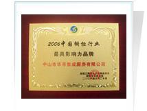 2006中国橱柜行业 最具影响力品牌