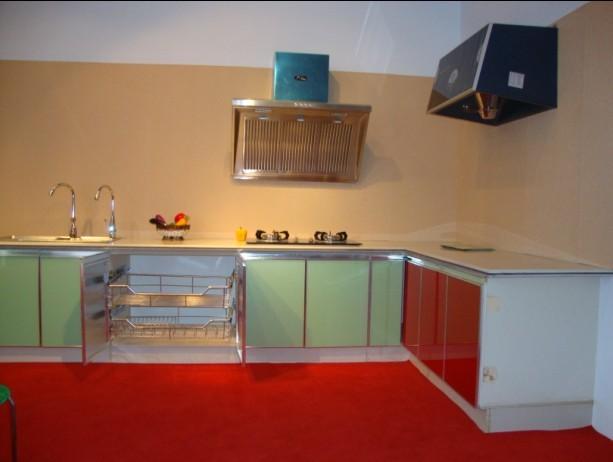 陶瓷整体厨柜实景图