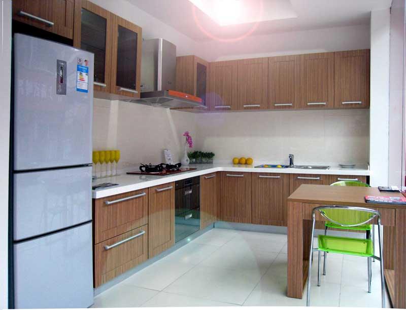 爱得整体厨房-柚林茗香橱柜效果图