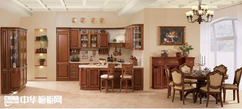 古典系列整体橱柜效果图 金牌厨柜索尼亚整体橱柜图片