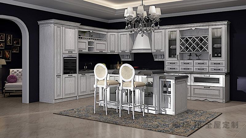 德瑞邦整体橱柜德瑞邦整体橱柜  奥斯顿  实木  可定制厨房装修效果图