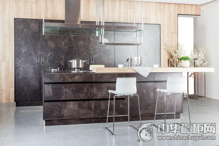德贝厨柜效果图 一字型橱柜简约风格橱柜图片