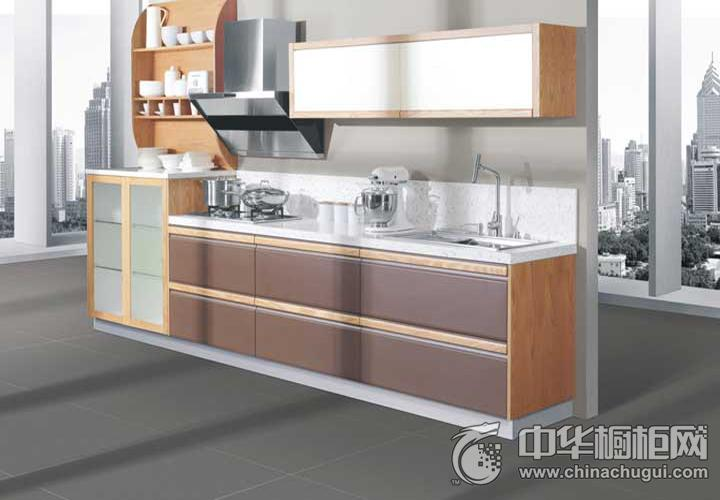德贝厨柜效果图 简约风格橱柜图片
