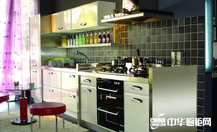 整体橱柜效果图 圣格兰迪整体橱柜产品极地光芒 欧式风格橱柜图片