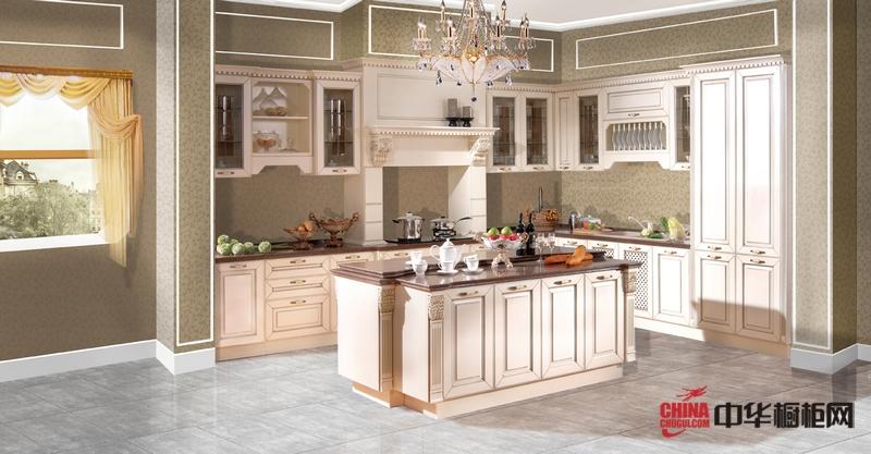 乳白色烤漆欧式橱柜效果图 好来屋厨柜厨房装修效果图