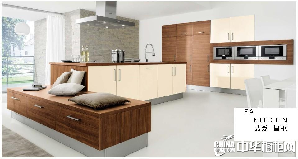 原木色厨房装修效果图 品爱厨柜效果图