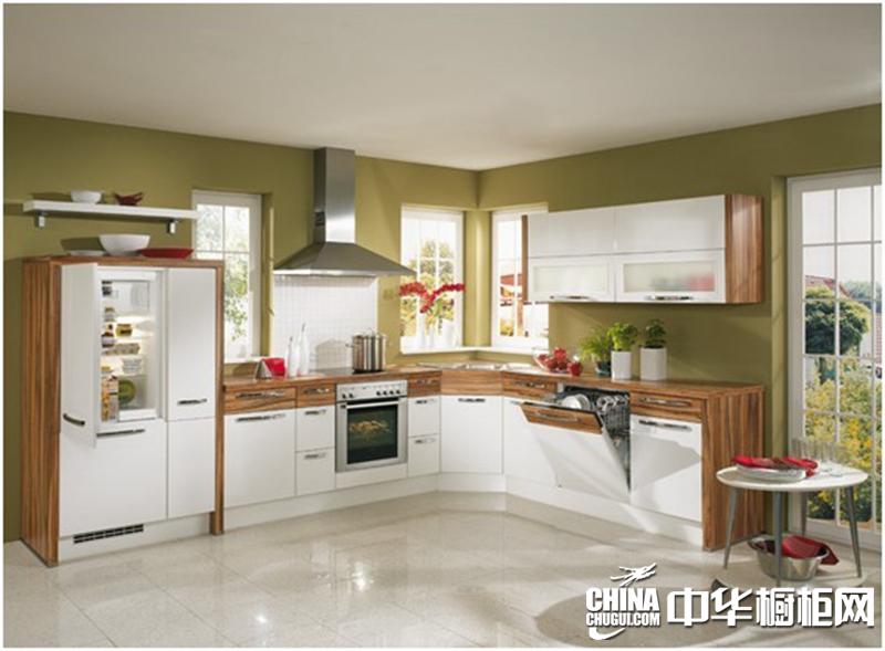 品爱厨柜图片 木色简约橱柜效果图
