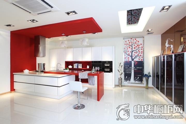 月兔橱柜·衣柜效果图 红色简约风格橱柜图片