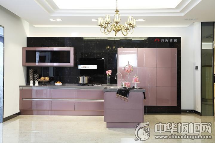 月兔橱柜·衣柜效果图 紫色简约风格橱柜图片