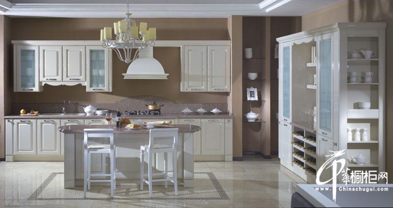 金牌厨柜欧式风格整体橱柜装修图片 时尚厨房装修效果图欣赏-爱琴海烤漆