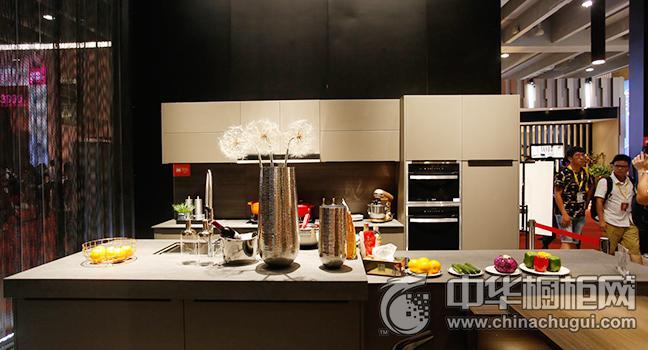 金牌厨柜效果图 广州建博会参展新品简约风格橱柜图片