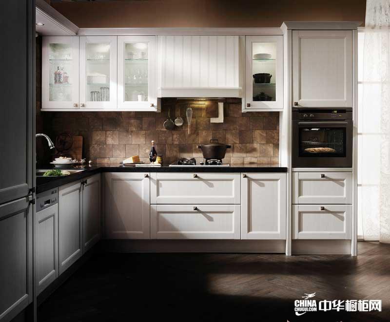 白色整体橱柜效果图 韩国汉森橱柜整体橱柜产品 欧式古典风格