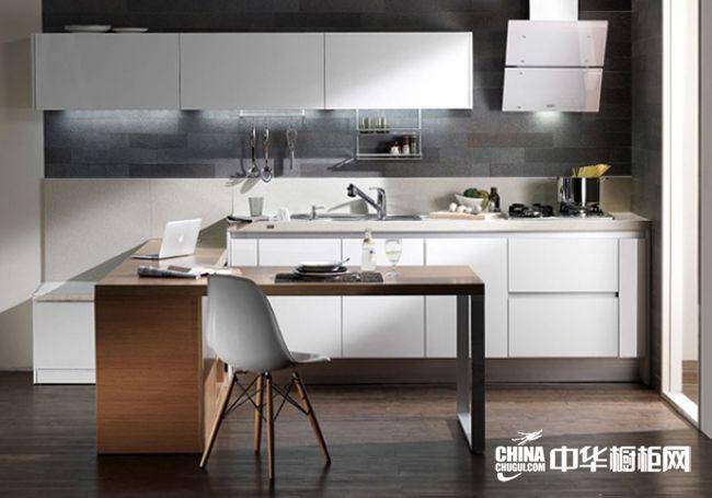 白色烤漆橱柜图片 汉森橱柜整体橱柜产品 简约风格橱柜设计图