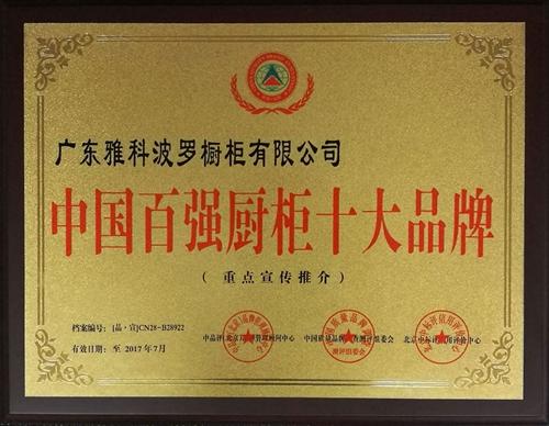 中国百强橱柜十大品牌
