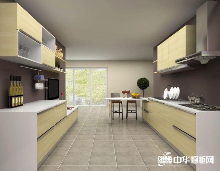 麦黄整体橱柜效果图 欧意普拉托尼整体橱柜产品 简约风格橱柜设计