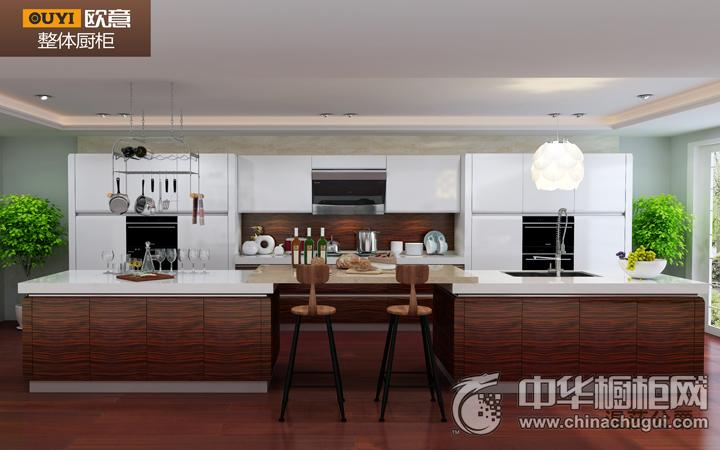 欧意智能厨房|全屋定制效果图 简约风格橱柜图片