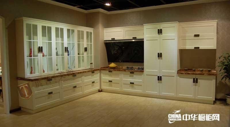 白色整体橱柜效果图 庹普美派橱柜整体橱柜产品图 欧式橱柜图片展示