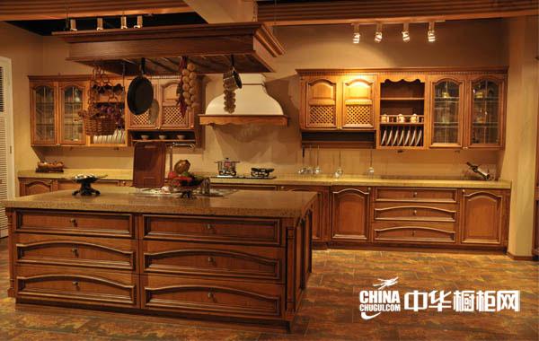 欧式橱柜设计图 庹普美派橱柜整体橱柜产品 古典风格橱柜图片