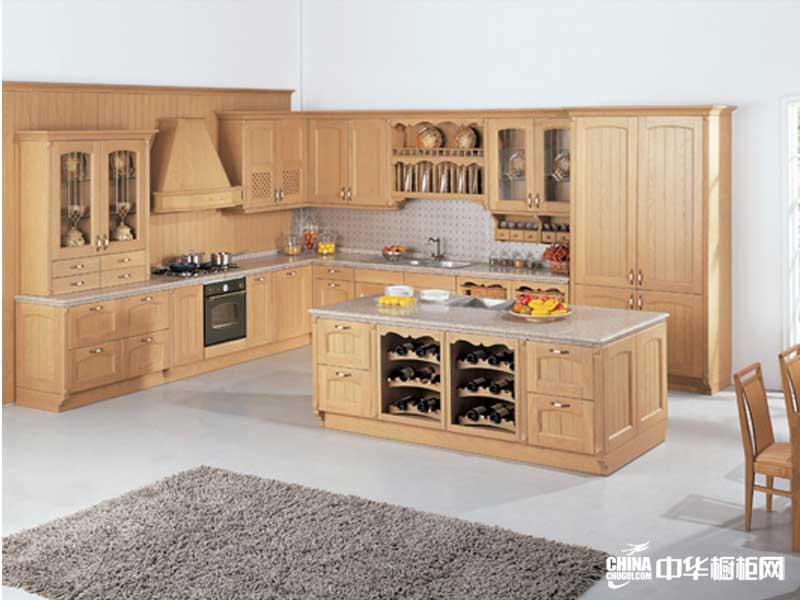 2012年实木橱柜图片——百意厨橱柜装修效果图 古典风格整体橱柜图片