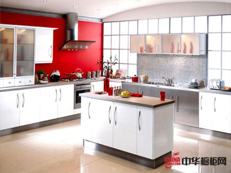 红色烤漆橱柜图片 欧化不锈钢整体橱柜图片