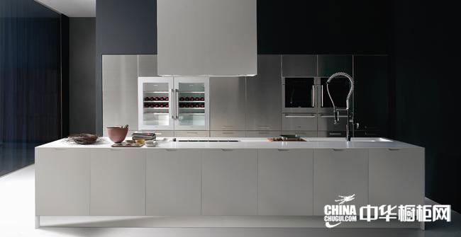不锈钢橱柜效果图 百能厨柜整体橱柜产品 简约风格橱柜图片