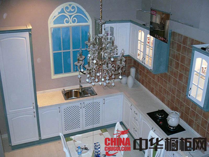 艾乐琪厨房橱柜整体效果图-欧式白色烤漆图片
