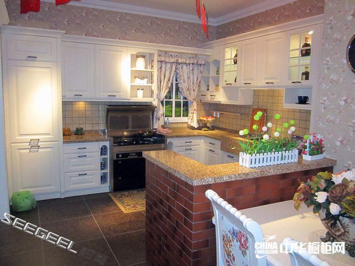 整体橱柜效果图 时哥厨卫整体橱柜产品巴塞罗那 田园风格橱柜图片