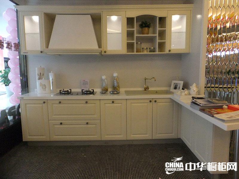 白色整体橱柜 欧柏森家具整体橱柜产品东方巴黎 欧式简约风格
