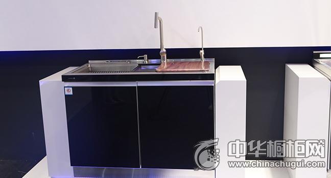 火星人集成灶水槽效果图 广州建博会参展新品