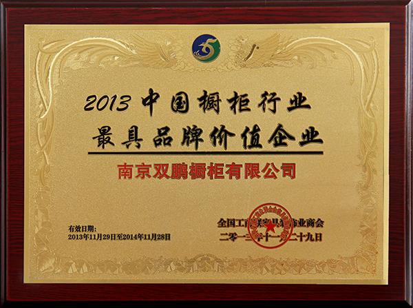 2013中国橱柜行业最具品牌价值企业