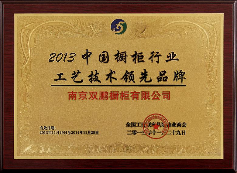 2013中国橱柜行业工艺技术领先品牌