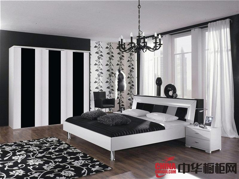艾依格衣柜整体衣柜—黑白简约风格橱柜效果图
