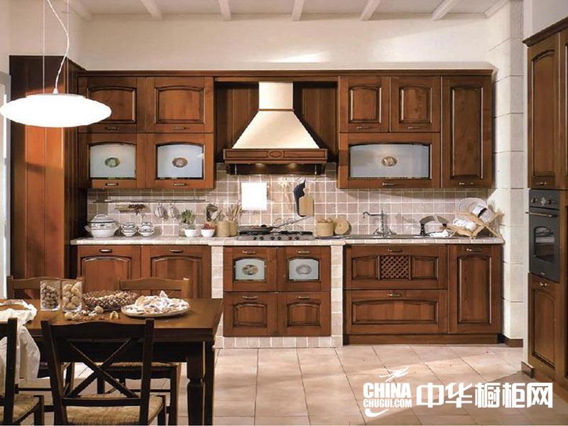 方月正木业整体橱柜装修效果图-欧式风格