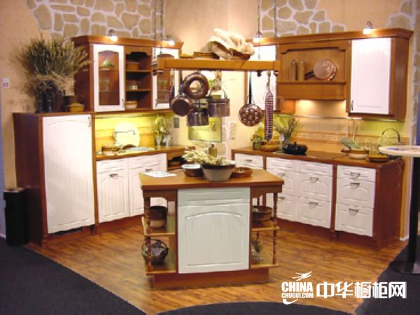 白棕整体橱柜效果图 博西尼橱柜整体橱柜产品 欧式风格橱柜设计