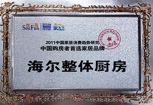 海尔橱柜-2011中国购房者首选家居品牌