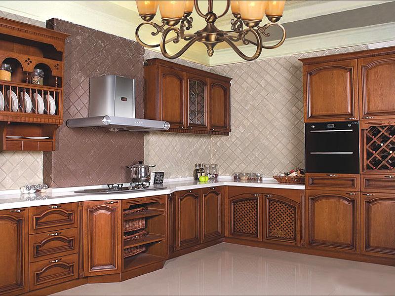 恒盛卡百德橱柜图片 古典风格整体橱柜装修效果图 实木橱柜图片
