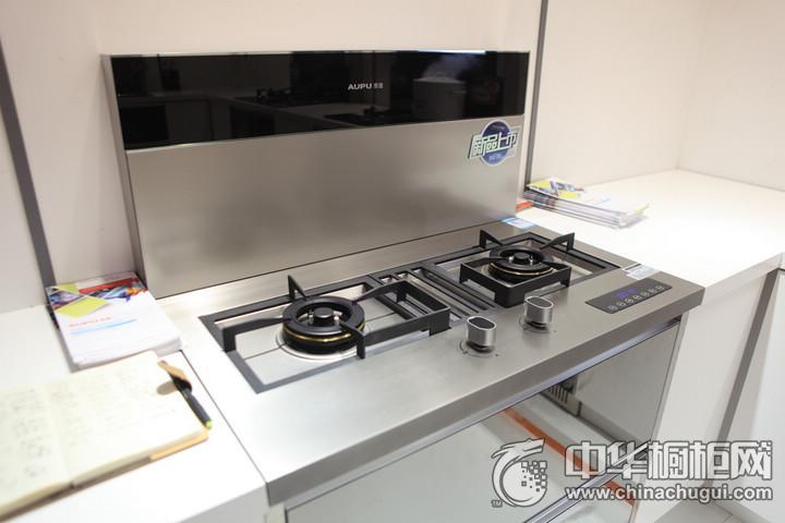奥普集成灶2016年中国建博会(广州)参展产品简约风格橱柜图片