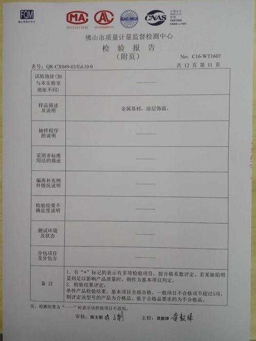 检验报告11