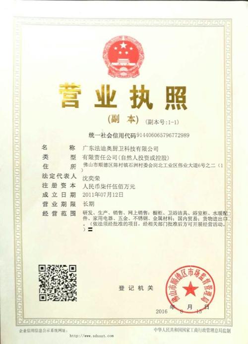 2017营业执照