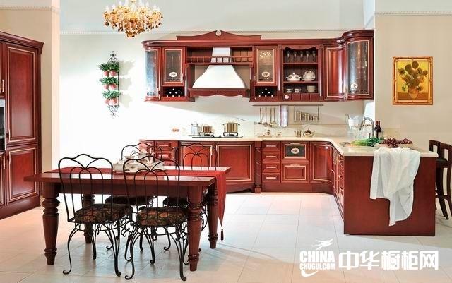 古典橱柜效果图 田园康居整体橱柜产品欧式古典 古典风格橱柜