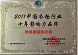 2011中国衣柜行业十年影响力品牌