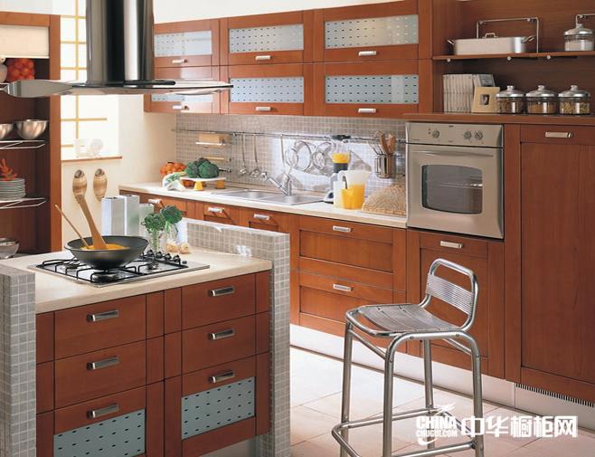 实木整体橱柜 得易家橱柜效果图 乡村风格橱柜设计