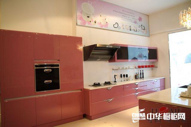 烤漆整体橱柜产品 粤橱整体橱柜效果图紫罗兰 简约风格橱柜设计图