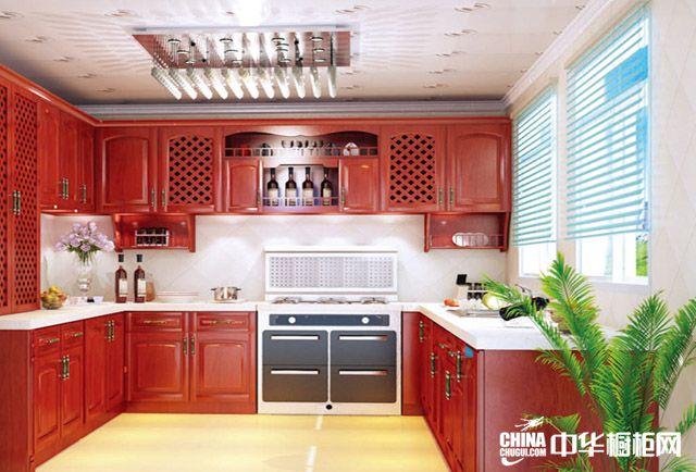 皇家实木整体橱柜效果图 开放式厨房装修效果图