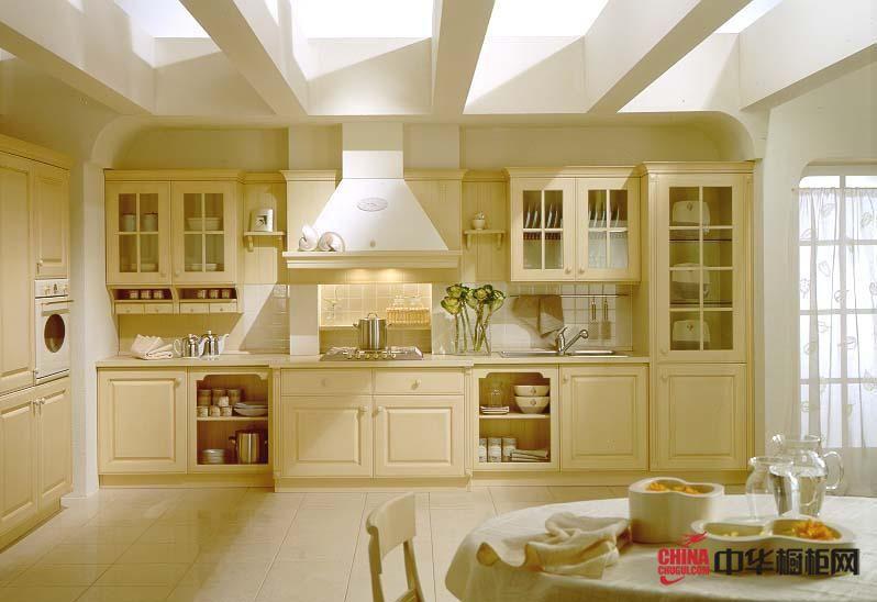 欧式整体橱柜效果图 开放式厨房装修效果图