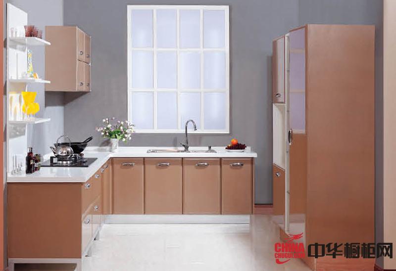香槟色欧蒂克整体橱柜效果图夏日午后 简约风格厨房装修效果图大全2012图片
